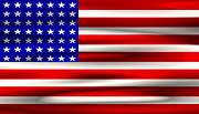Stars And Stripes Digital Art - BITS and BYTES U. S. FLAG by Daniel Hagerman