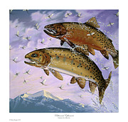 Cutthroat Trout Posters - Bitterroot Ephemera Poster by Philip Slagter