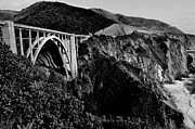 Bixby Bridge Metal Prints - Bixby Black and White Metal Print by Benjamin Yeager