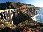 Wpa Prints Framed Prints - Bixby Bridge Afternoon Framed Print by Joe Schofield