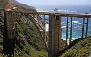 Bixby Bridge Metal Prints - Bixby Bridge-Big Sur Metal Print by Donna Kennedy