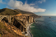 Big Sur Metal Prints - Bixby Coastal Drive Metal Print by Mike Reid