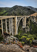 Bixby Bridge Metal Prints - Bixby Creek Bridge Metal Print by Heather Applegate