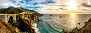 Big 3 Posters - Bixby Creek Bridge Panoramic One Poster by Josh Whalen