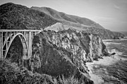 White Arched Bridge Prints - Bixby Overlook Print by Heather Applegate