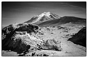 Bolivia Blog Prints - Bizarre Landscape Bolivia Black And White Select Focus Print by For Ninety One Days