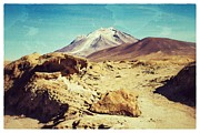 Bolivia Blog Prints - Bizarre Landscape Bolivia Vintage Color Print by For Ninety One Days