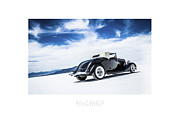 Dry Lake Racing Posters - Black And Blue Poster by Holly Martin