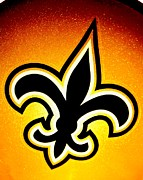 Fleur De Lis Art - Black And Gold by Benjamin Yeager