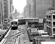 The El Posters - Black and White Chicago Photograph Poster by Horsch Gallery