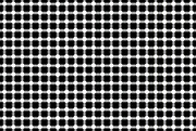 Optical Illusion Digital Art Prints - BLACK and WHITE DOTS Print by Daniel Hagerman