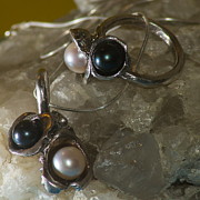 Dramatic Jewelry - Black and White Duo by Klara Jewels