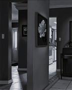 Black And White Foyer Print by Tony Chimento