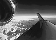 Jet Poster Digital Art - Black and White Jet Pop Art Plane by Robin B E Muirhead Esq