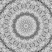 Roseann Caputo - Black and White Kaleidoscope 01