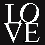 Words Background Posters - Black and White Love Poster by Nomad Art And  Design