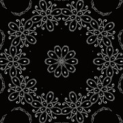 Ornate Designs And Medallions - Black and White Medallion 4 by Angelina Vick