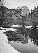 Jamie Pham - Black and White Mirror - View of Mirror Lake in Yosemite National Park.