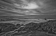 Featured Art - Black And White Of Moro Beach by First Light