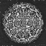 Oreos Prints - Black And White Oreo Print by Rob Hans