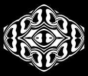 Concentration Digital Art - Black and White Ornament No.275 by Drinka Mercep