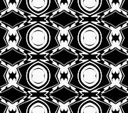 Op Art Digital Art Posters - Black and White Pattern Art No.34 Poster by Drinka Mercep