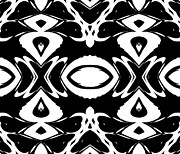 Intuitive Thought Framed Prints - Black and White Pattern Ornament Abstract Art No.156  Framed Print by Drinka Mercep