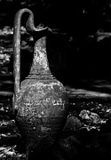 Old Pitcher Prints - Black and White Pitcher Print by Jay Droggitis
