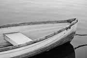 Row Boat Digital Art - Black and White Row Boats by Paulette  Thomas