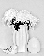 Floral Still Life Prints - Black and White Still Print by Marsha Heiken