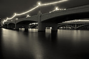 Dreary Prints - Black and White Tempe Town Lake Print by Dave Dilli