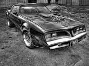 Thomas Young Photography Framed Prints - Black and White Trans Am Framed Print by Thomas Young