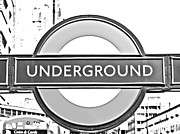 London Underground Posters - Black and White Underground Poster by Georgia Fowler
