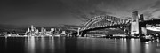 Sydney Photographs Framed Prints - Black and white vividness Framed Print by Boris  Vargovic