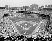 Yankee Stadium Prints - Black and White Yankee Stadium Print by Horsch Gallery