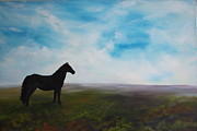 Jean Walker Paintings - Black as Night in the Light of Day by Jean Walker