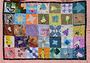 Quilt Tapestries - Textiles Posters - Black Ballerinas And Bugs In Dresses  Poster by Nancy Mauerman