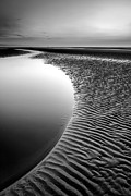 Horizon Digital Art Metal Prints - Black Beach Metal Print by Adrian Evans