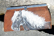 Clothes Clothing Mixed Media - Black Beauty Horse Wallet by Heather Grieb