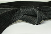 Sash Prints - Black Belt Print by Paul Ward