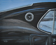Mustang Paintings - Black Betty 2 by Glen Frear