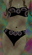 Kate Farrant - Black Bikini Abstract Woman