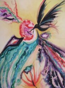 Leclair Prints - Black Bird Tequila Print by Suzanne  Marie Leclair