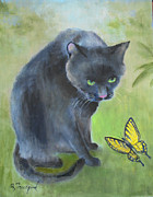 Oz Freedgood - Black Cat and Butterfly