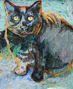 Yvonne Gaudet - Black Cat Looking Up