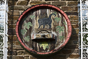 Wine Barrel Photos - Black Cat Wine Barrel by Sally Weigand