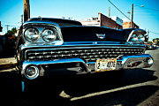 Dallas Digital Art Metal Prints - Black Classic Ford Metal Print by Sonja Quintero