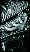 Street Rods Posters - Black Cobra - Ford Cobra Engines Poster by Steven Milner