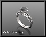 Roi Avidar - Black Diamond 14k White...