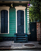 French Door Prints - Black Doors Print by Perry Webster